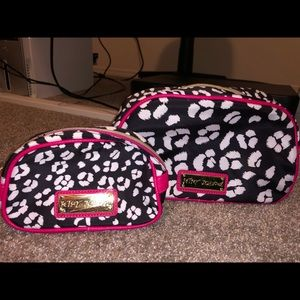 Betsey Johnson makeup and travel bags